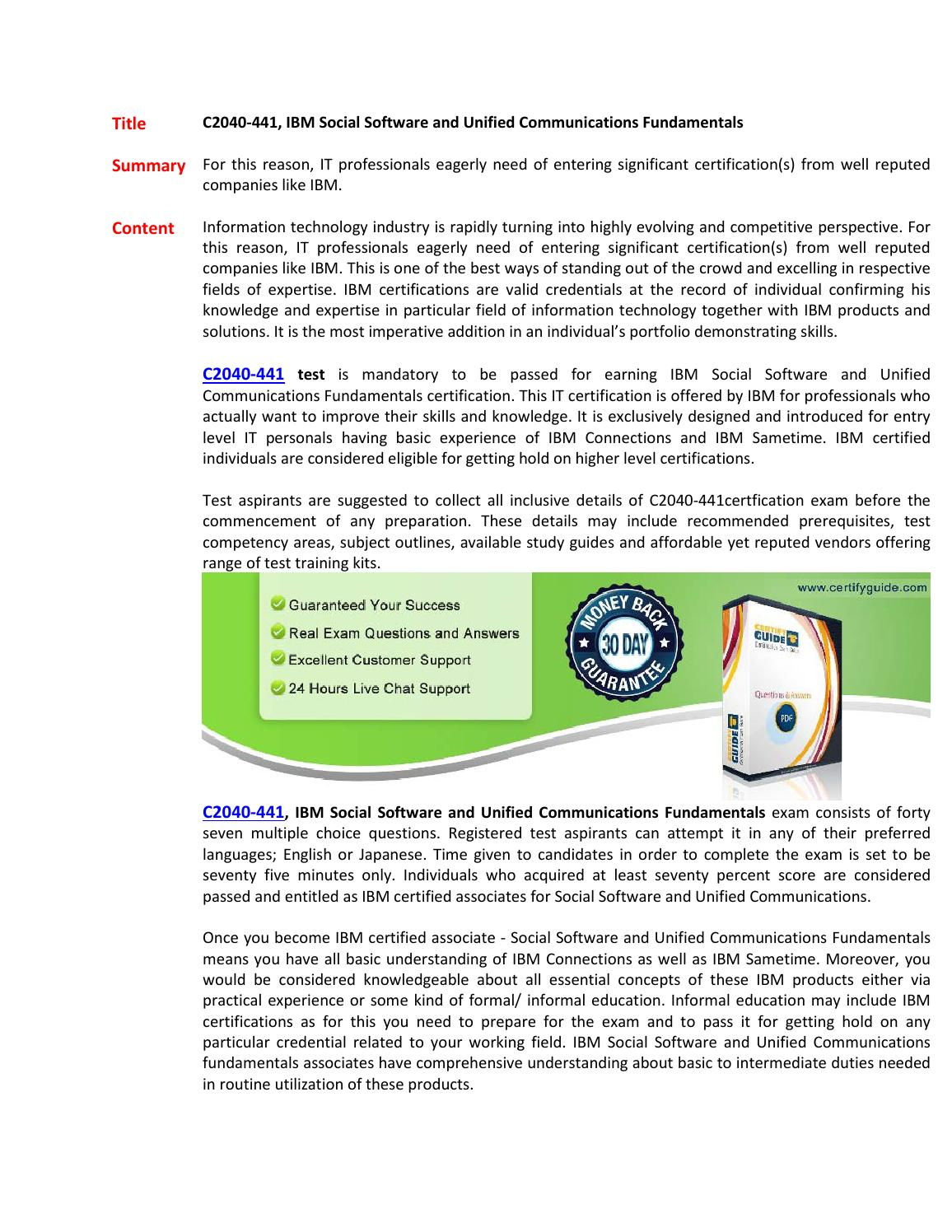 C2040 441 Certification Guides By Johncornor01 Issuu