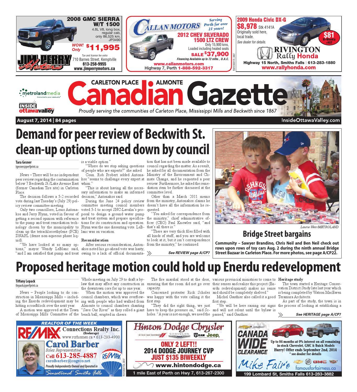 7ca34f15c4d7d1 Almontecarletonplace080714 by Metroland East - Almonte Carleton Place  Canadian Gazette - issuu