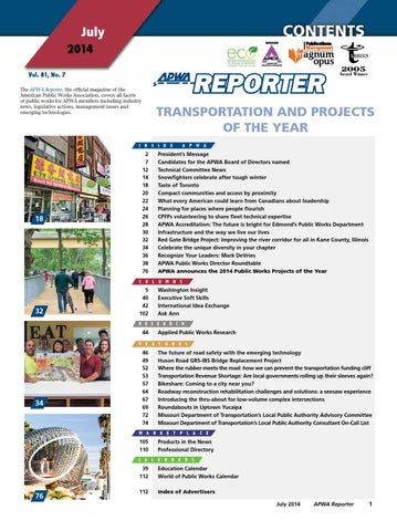 APWA Reporter - Infrastructure and the way we live our lives