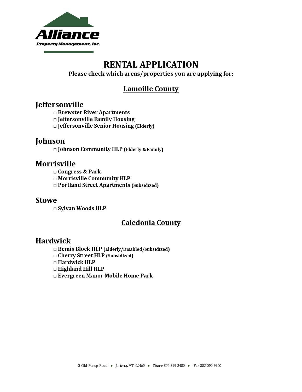 Lamoille Housing Partnership Application