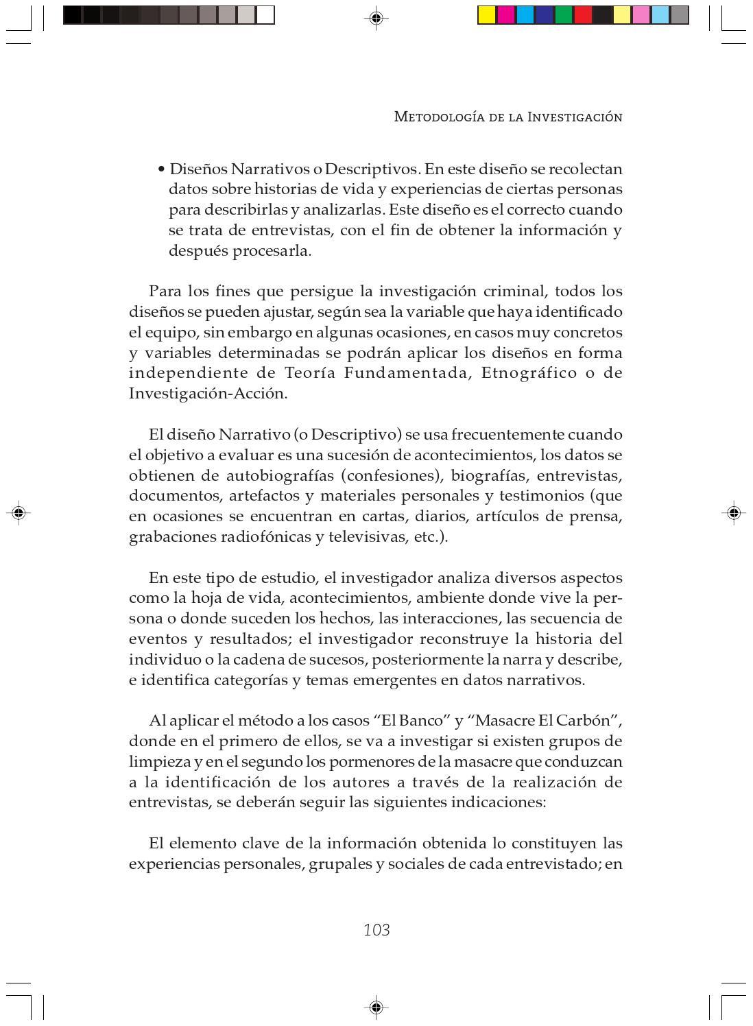Metodologia de la investigacion y manejo informacion inv criminal by ...