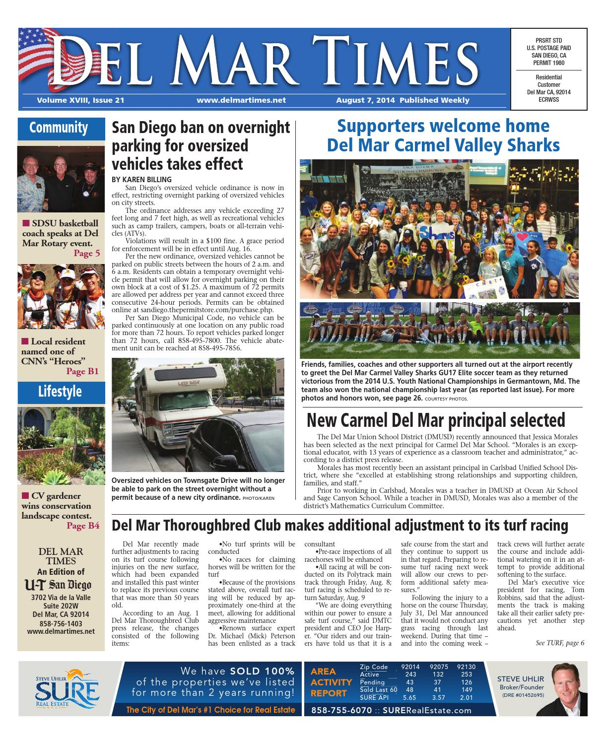 Del mar times 8 7 14 by mainstreet media issuu fandeluxe Images