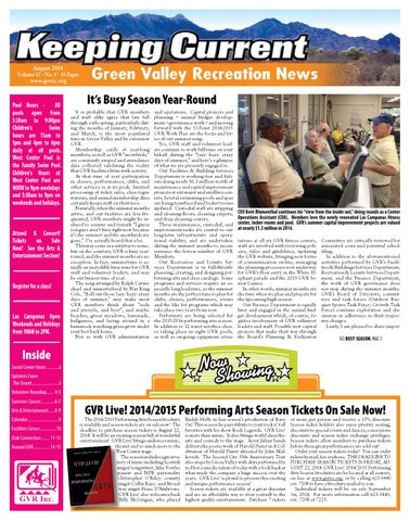 Keeping Current August 2014 Green Valley Recreation News By Wick Communications Issuu