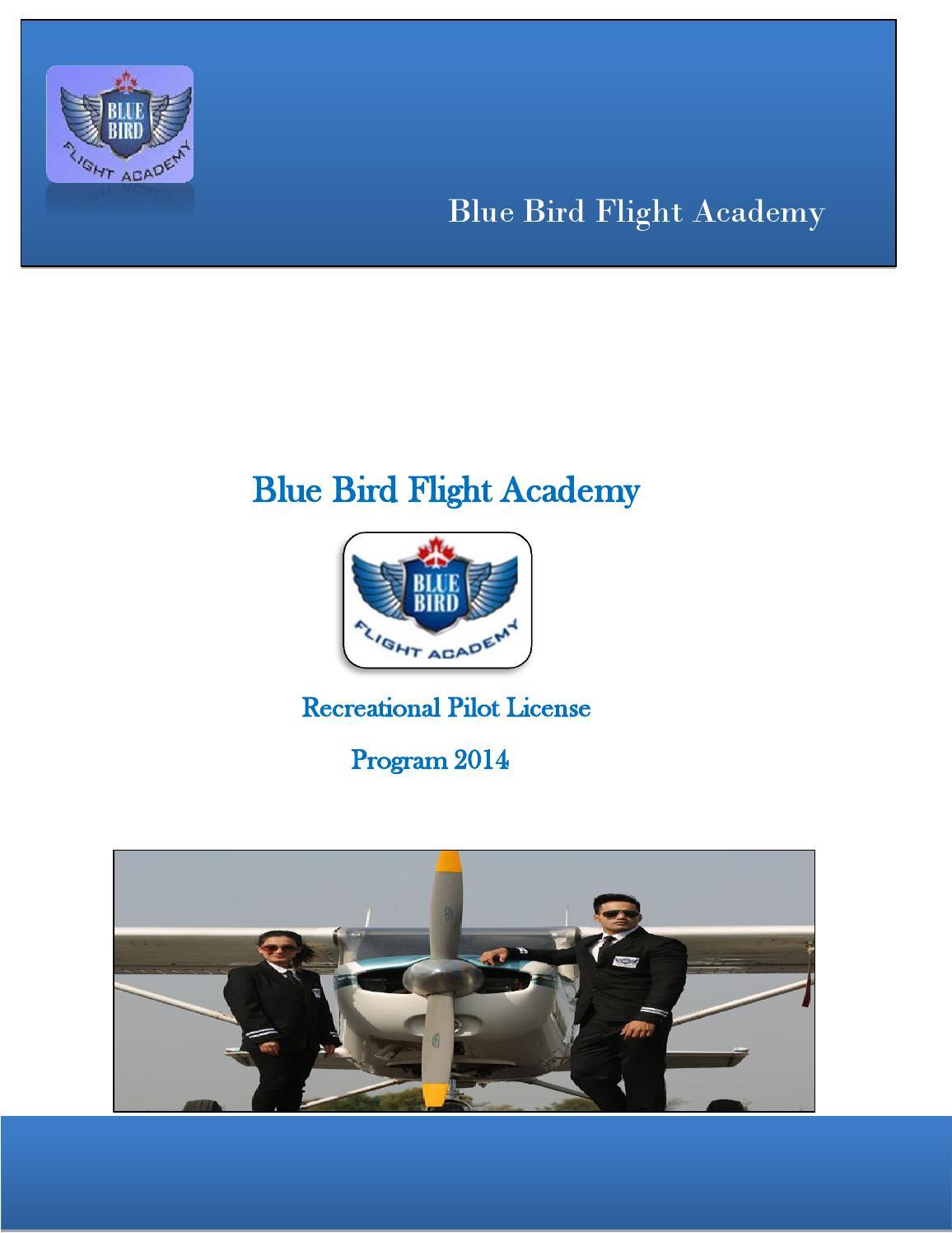 recreational pilot license bluebird