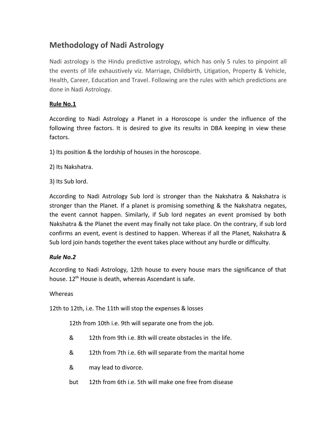Nadi astrology predictive hindu astrology by KamalZafar - issuu