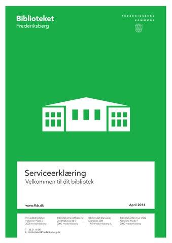 Serviceerklæring Biblioteket Frederiksberg By Frederiksberg