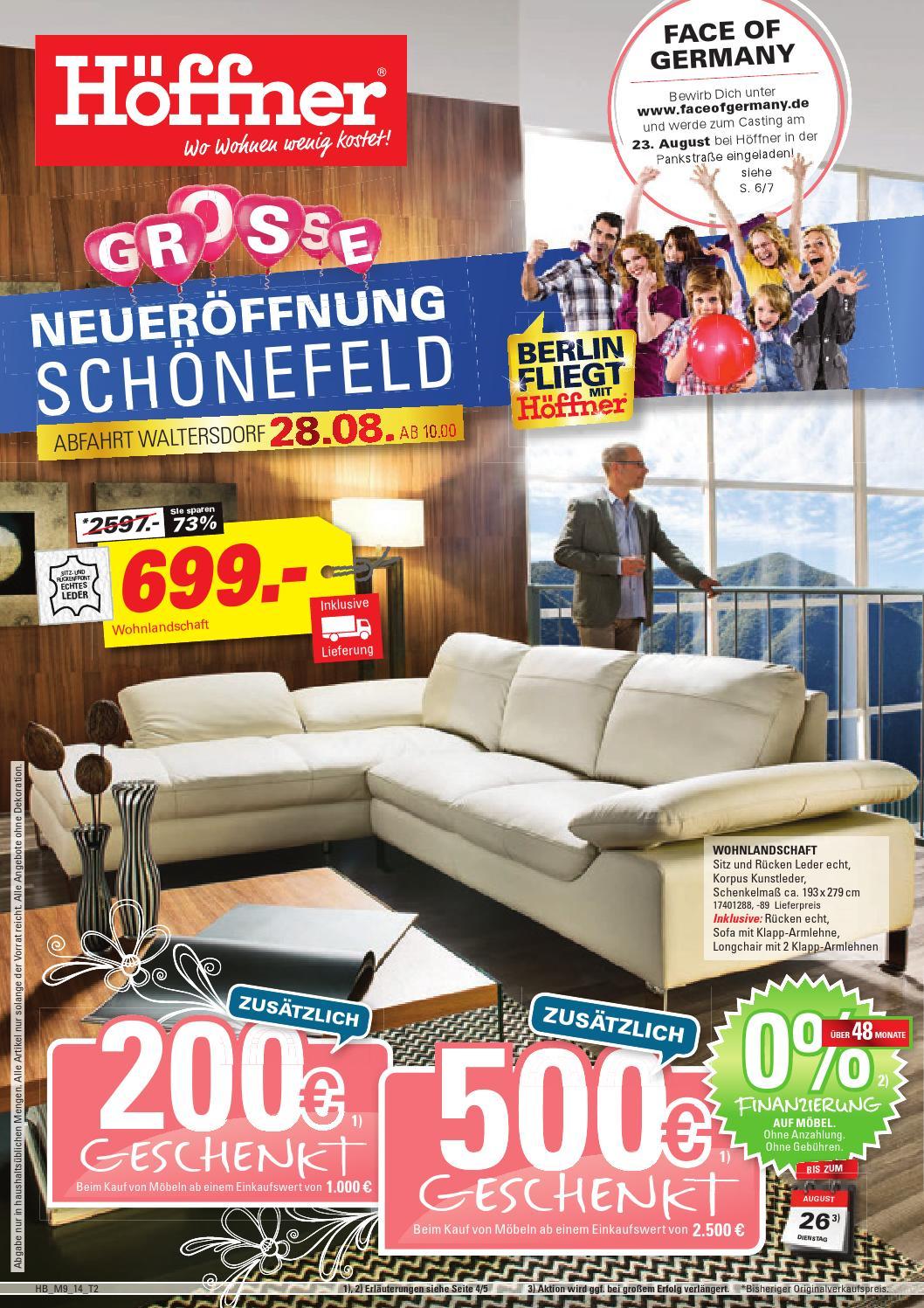 m bel h ffner neuer ffnung sch nefeld by berlin medien gmbh issuu. Black Bedroom Furniture Sets. Home Design Ideas