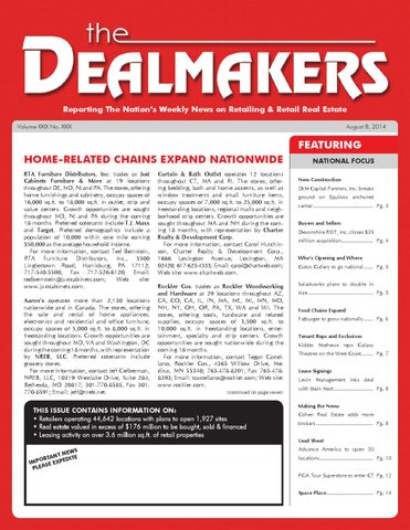 Dealmakers Magazine August 8 2014 By The Dealmakers