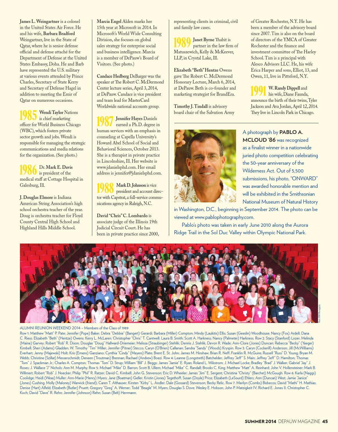 DePauw Magazine Summer 2014 by DePauw University