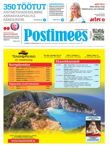 1e1cbd938c2 Postimehe paberleht 09 08 2014 by Postimees - issuu