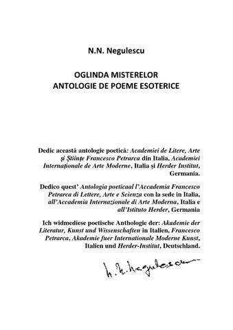 Antologia Trilingvă De Poeme Esoterice Oglinda Misterelor By