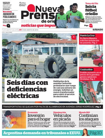 09 DE AGOSTO DE 2014 by Nueva Prensa de Oriente - issuu