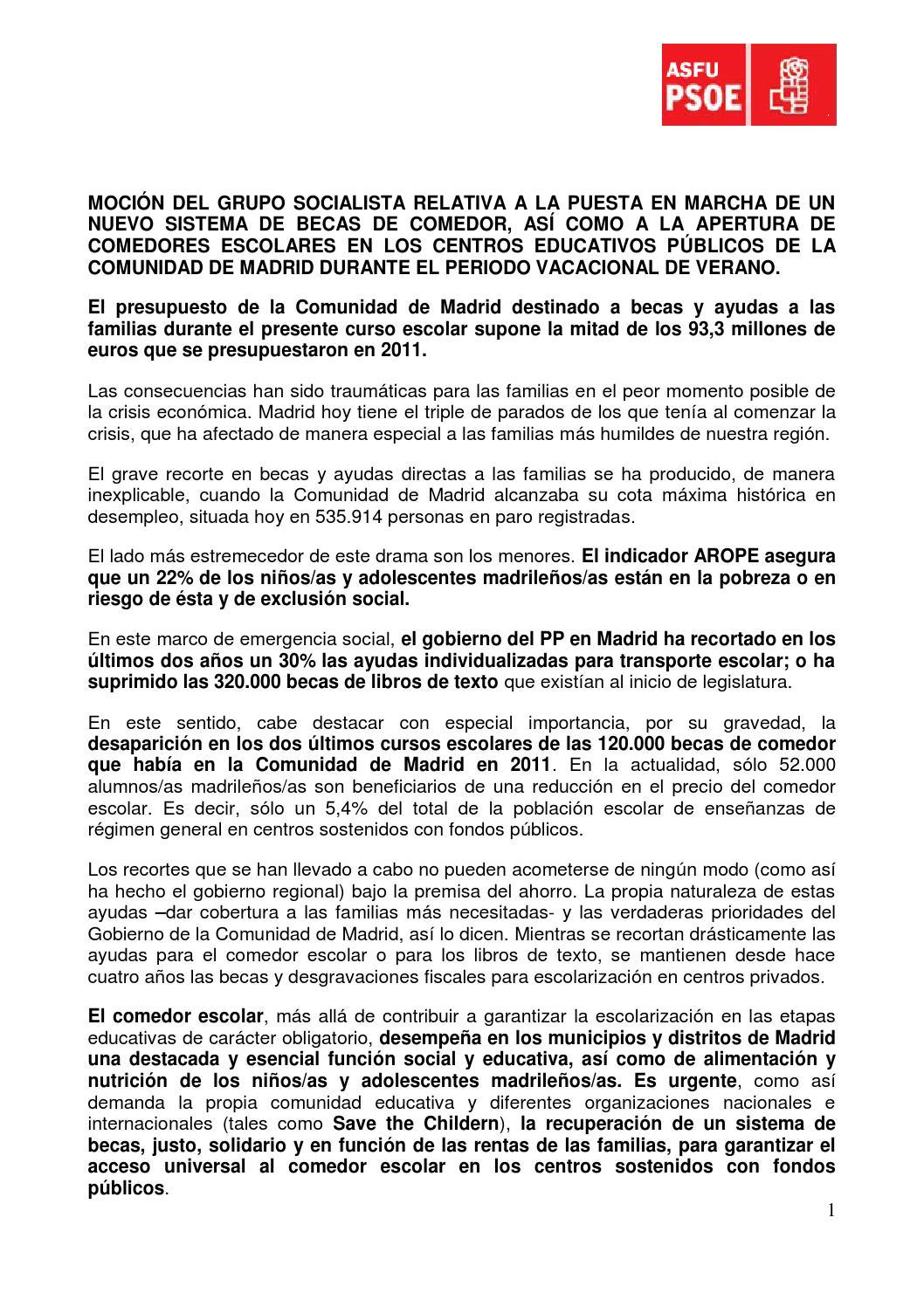 Mocion 08 08 14 comedores escolares by asfu2015 - issuu