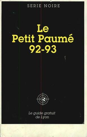 Le Petit Paumé - Edition 1992 1993 - City-Guide de Lyon by Le Petit ... dc3e1a3bd2f
