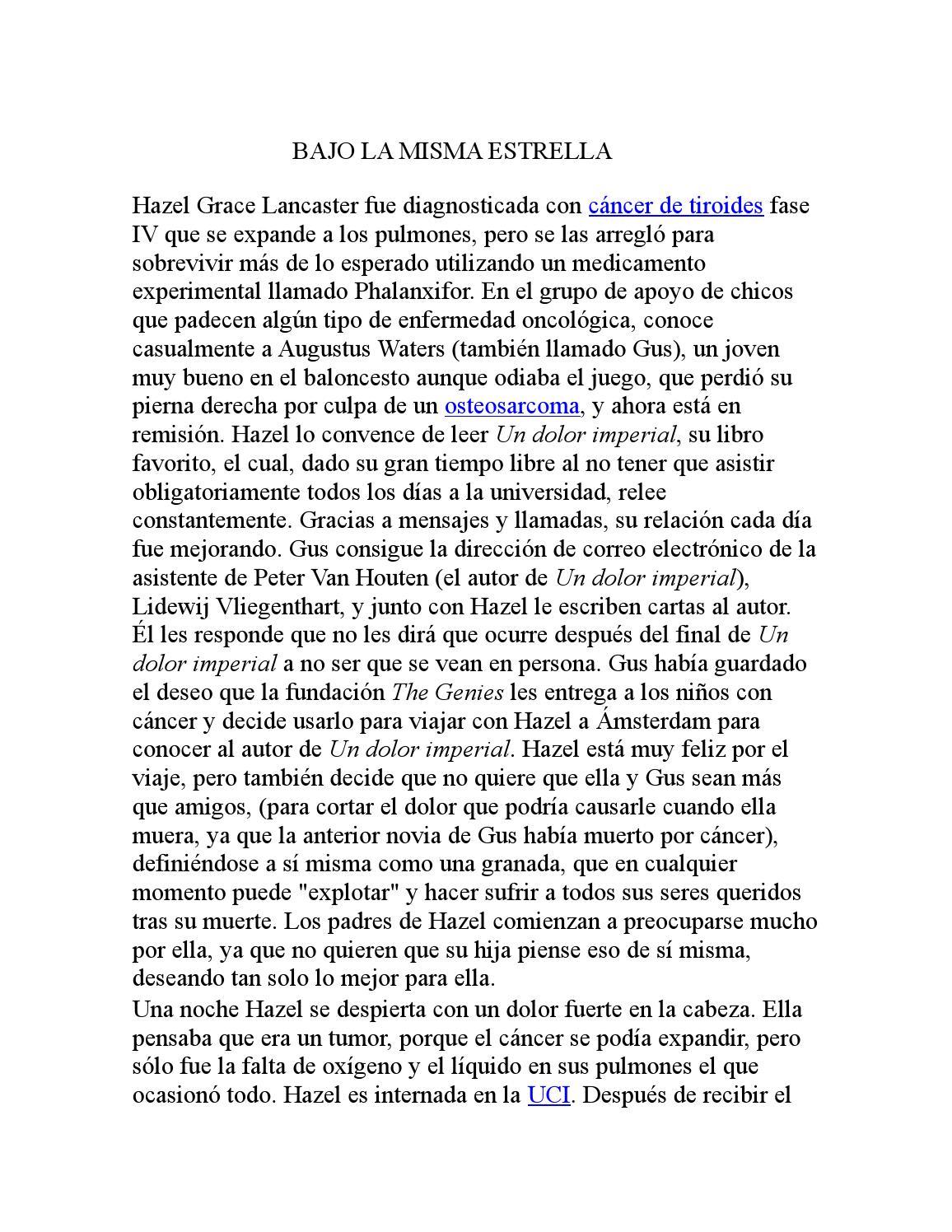 Bajo la misma estrella by Elizzabeth Hernandezz - Issuu