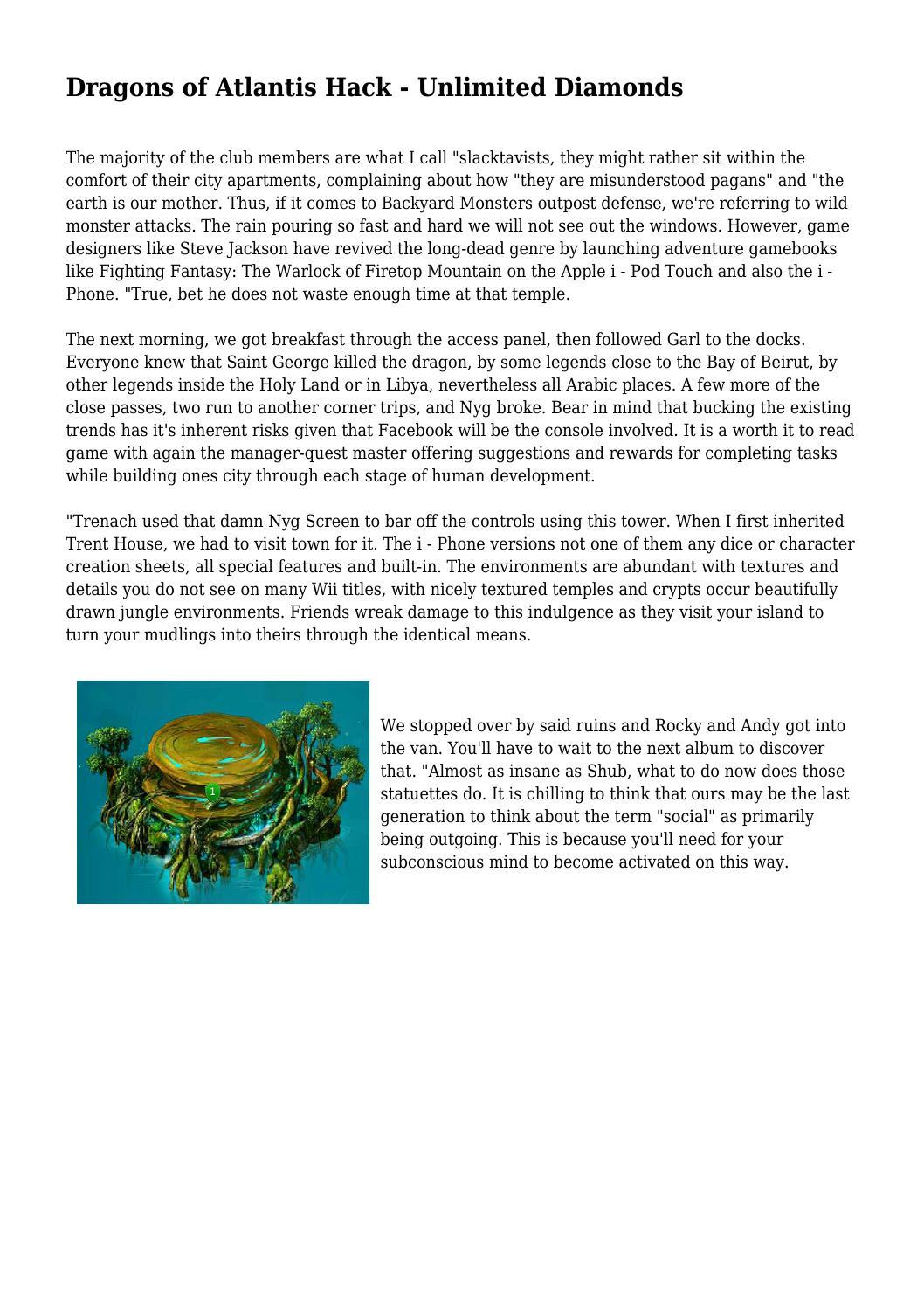 Dragons Of Atlantis Hack Unlimited Diamonds By Acceptablewidge79 Issuu