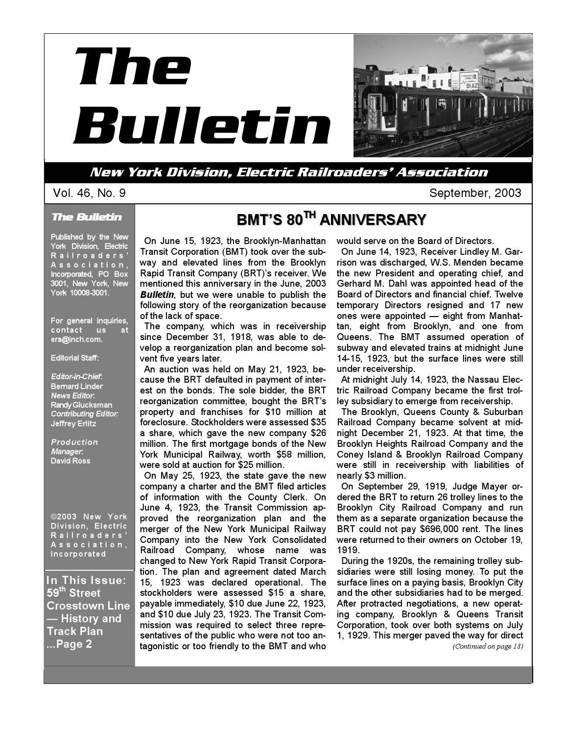 The ERA Bulletin 2003-09