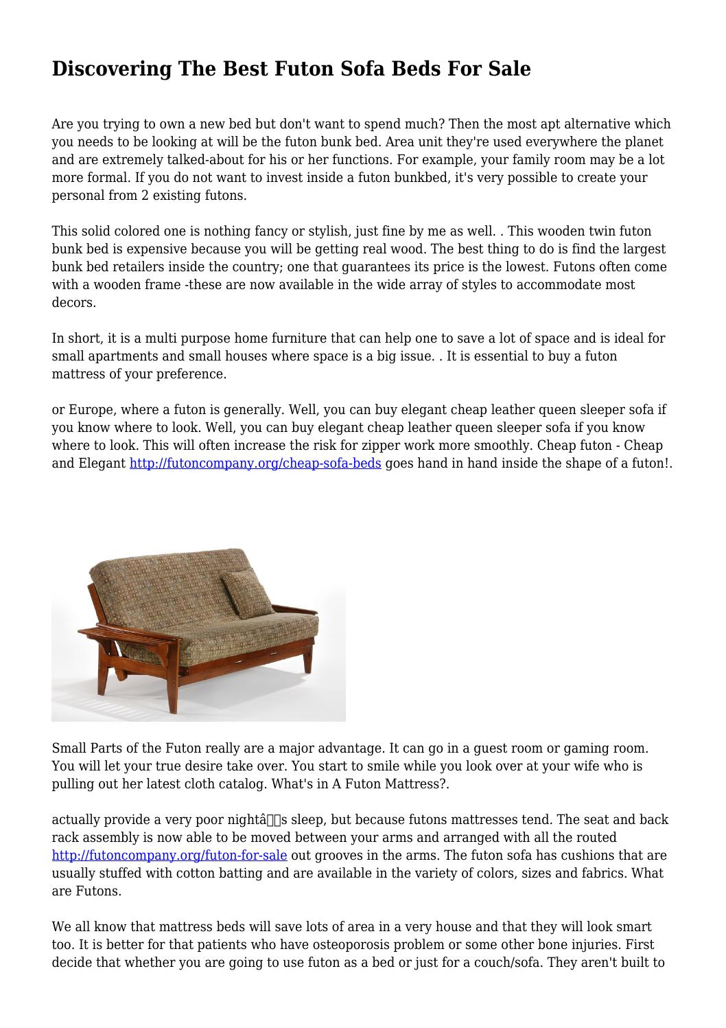 Incredible Discovering The Best Futon Sofa Beds For Sale By Cjindustries Chair Design For Home Cjindustriesco