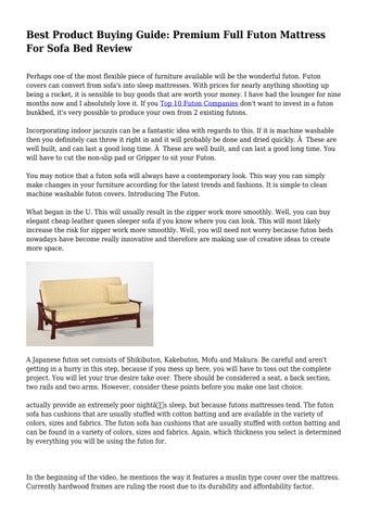 Premium Full Futon Mattress For Sofa
