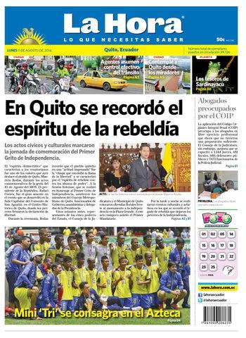 Quito 11 agosto 2014 by Diario La Hora Ecuador - issuu fc7f74f49883c