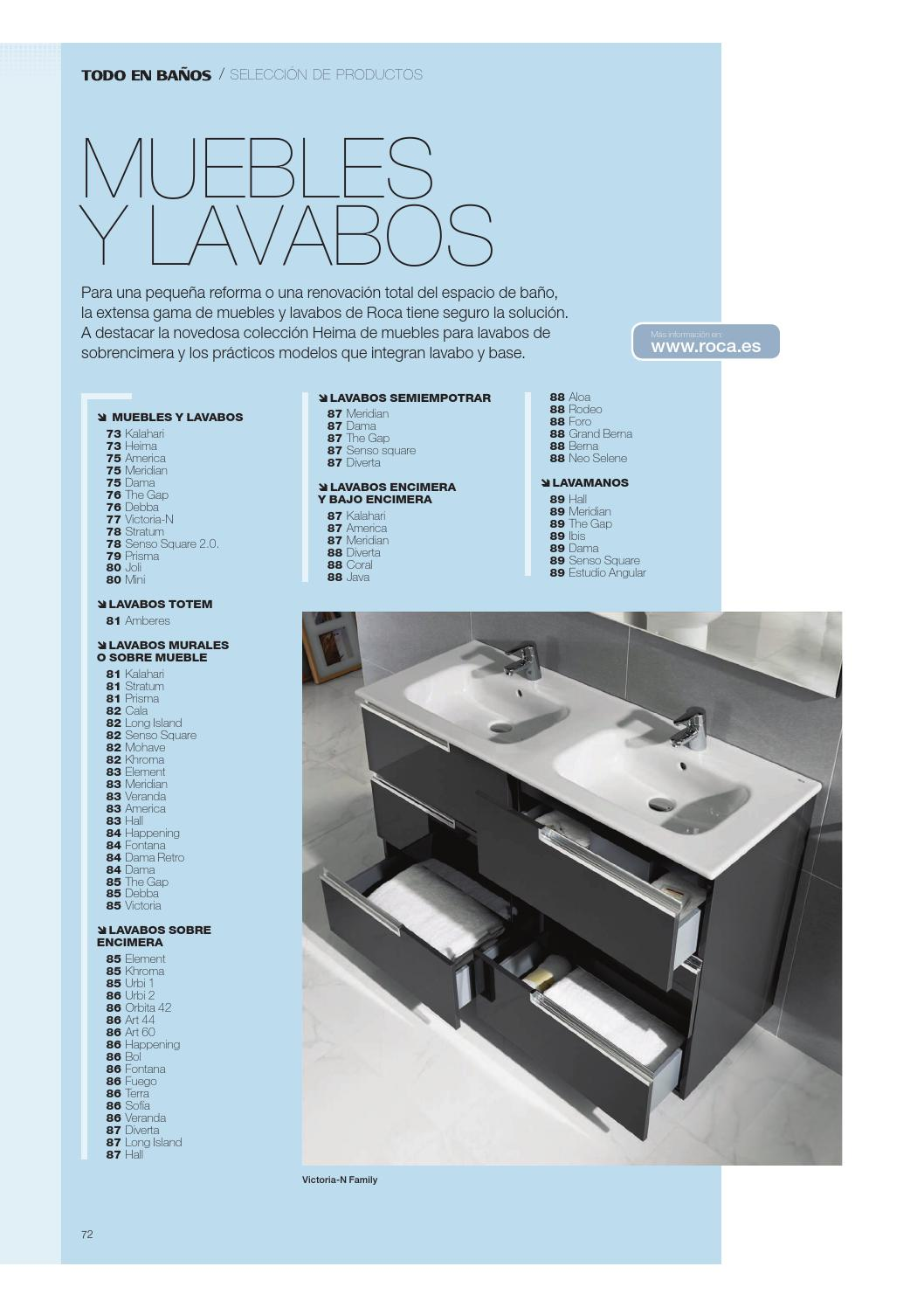 Lavabo Urbi 1 De Roca.Lavabos Roca 2014 By Servidaya Issuu