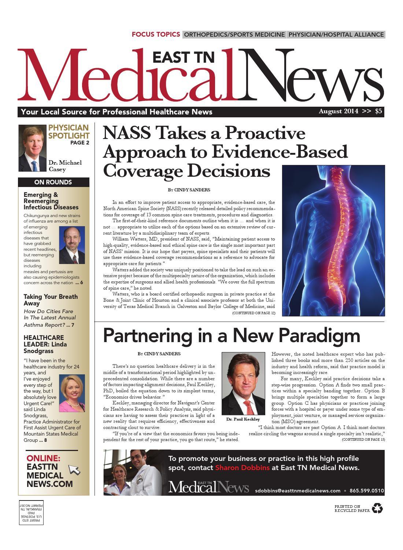 East Tn Medical News August 2014 by FW Publishing - issuu