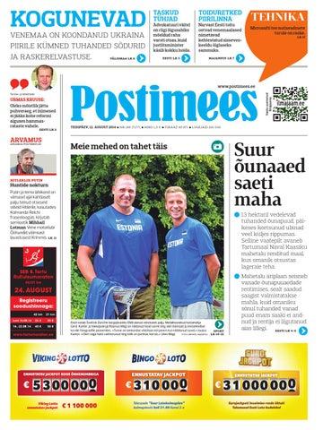 606ceb81421 Postimees 12 08 2014 by Postimees - issuu