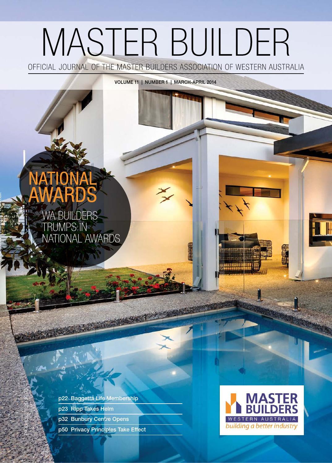 2014 Master Builders Western Australia Magazine Mar Apr By