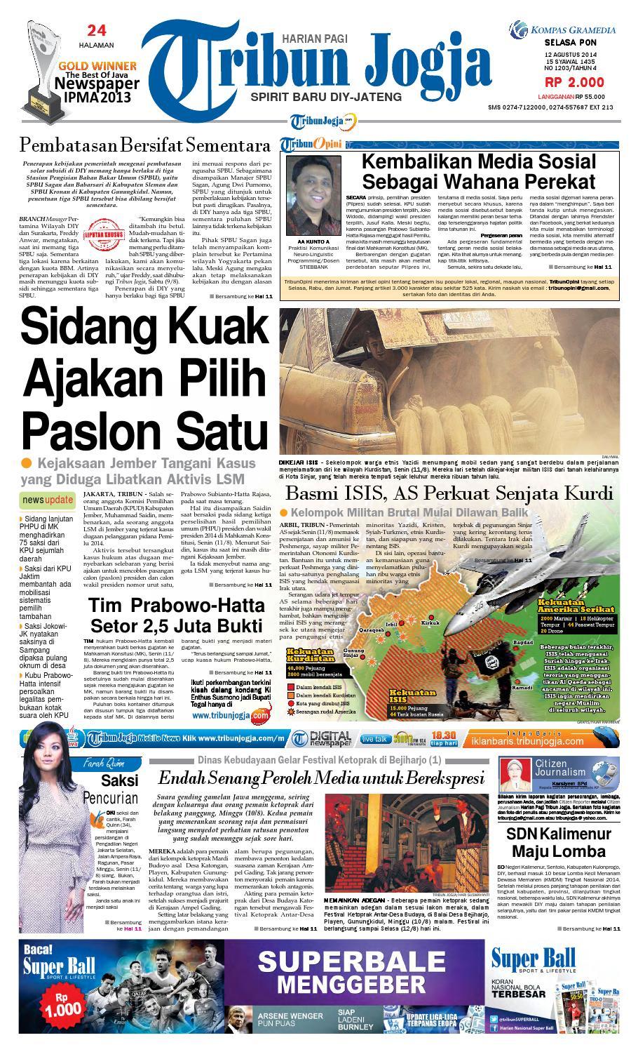 Tribunjogja 12 08 2014 By Tribun Jogja Issuu Produk Ukm Bumn Dompet Double Bordir Rikaamp039s