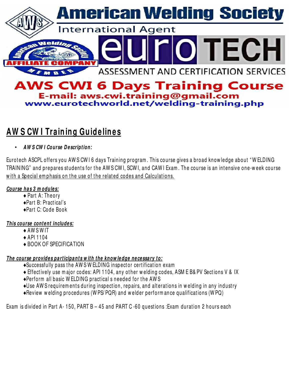 Aws Cwi Training Guidelines By Aws Cwi Training Course Issuu