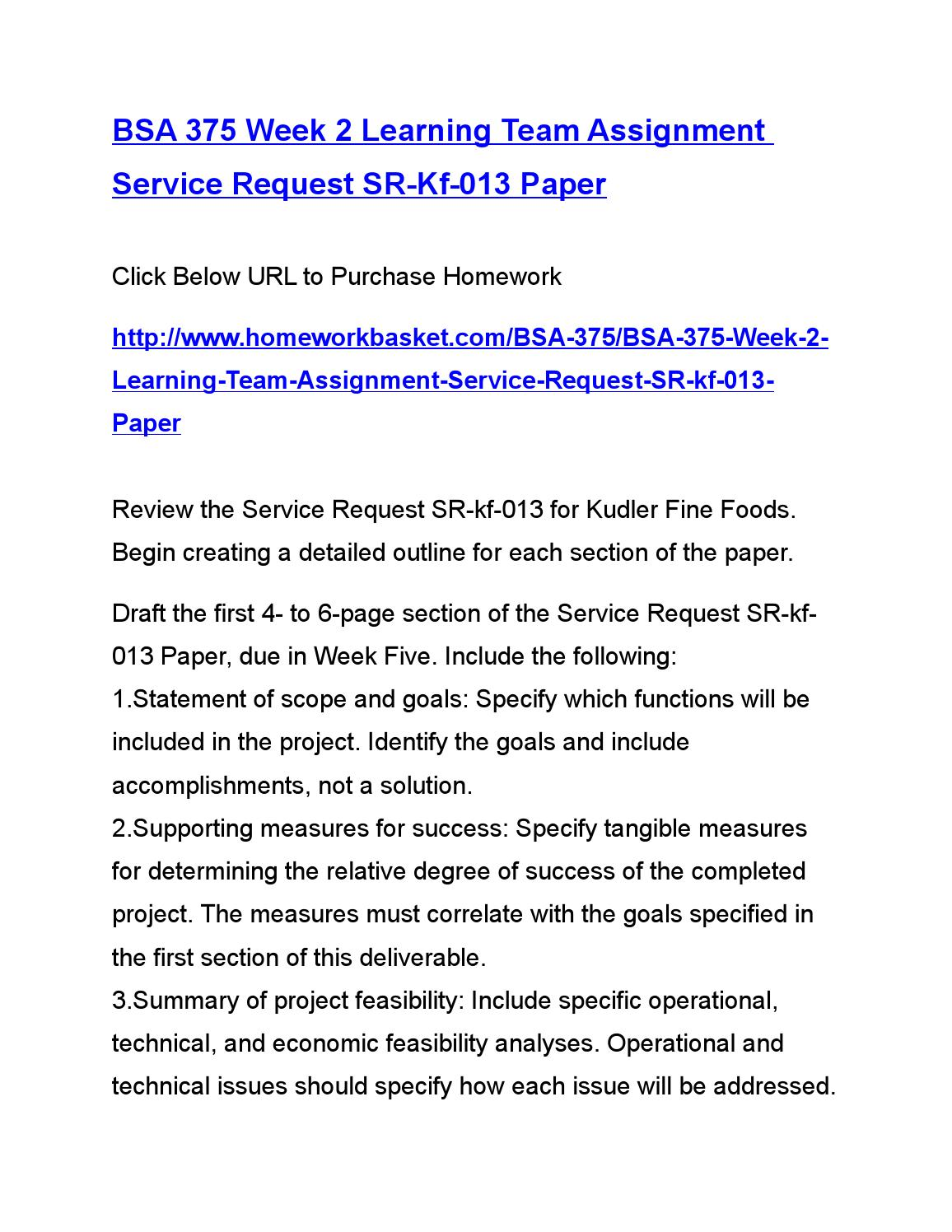 Bsa 375 supporting measures for success specify tangible measures for determining the relative degre