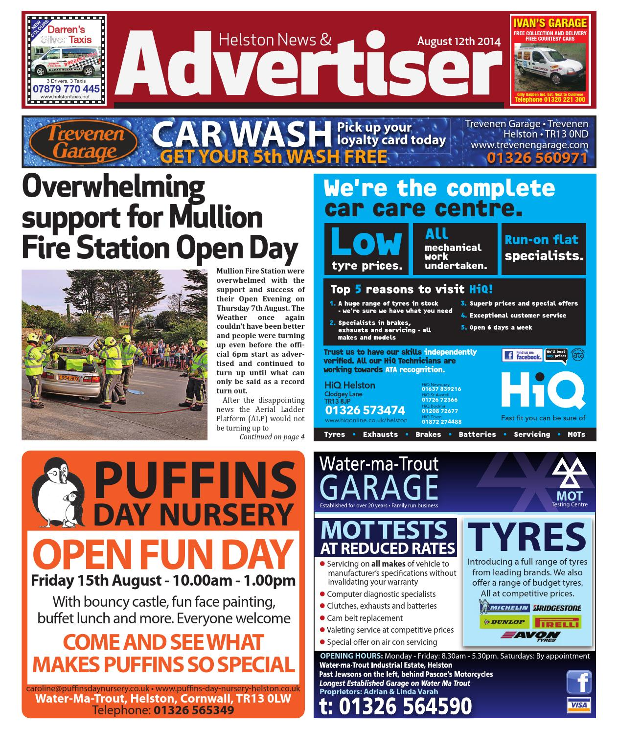 Helston News Advertiser 12th August By Helston Advertiser Issuu