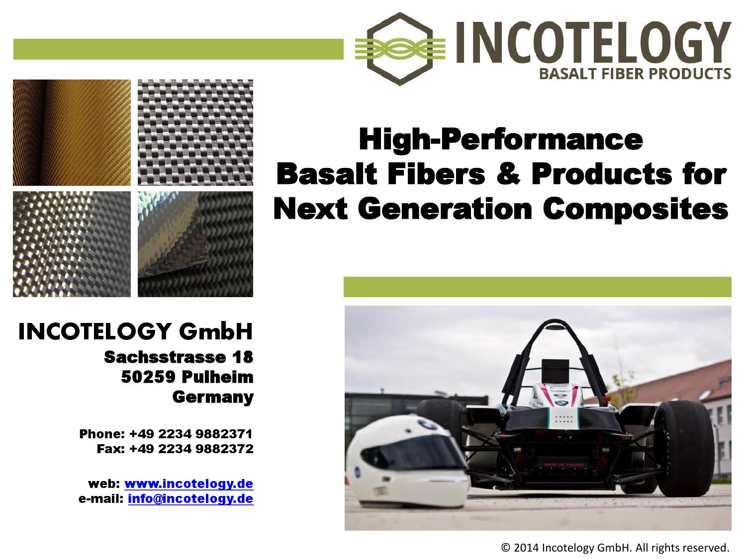 High performance basalt fibers & products for next