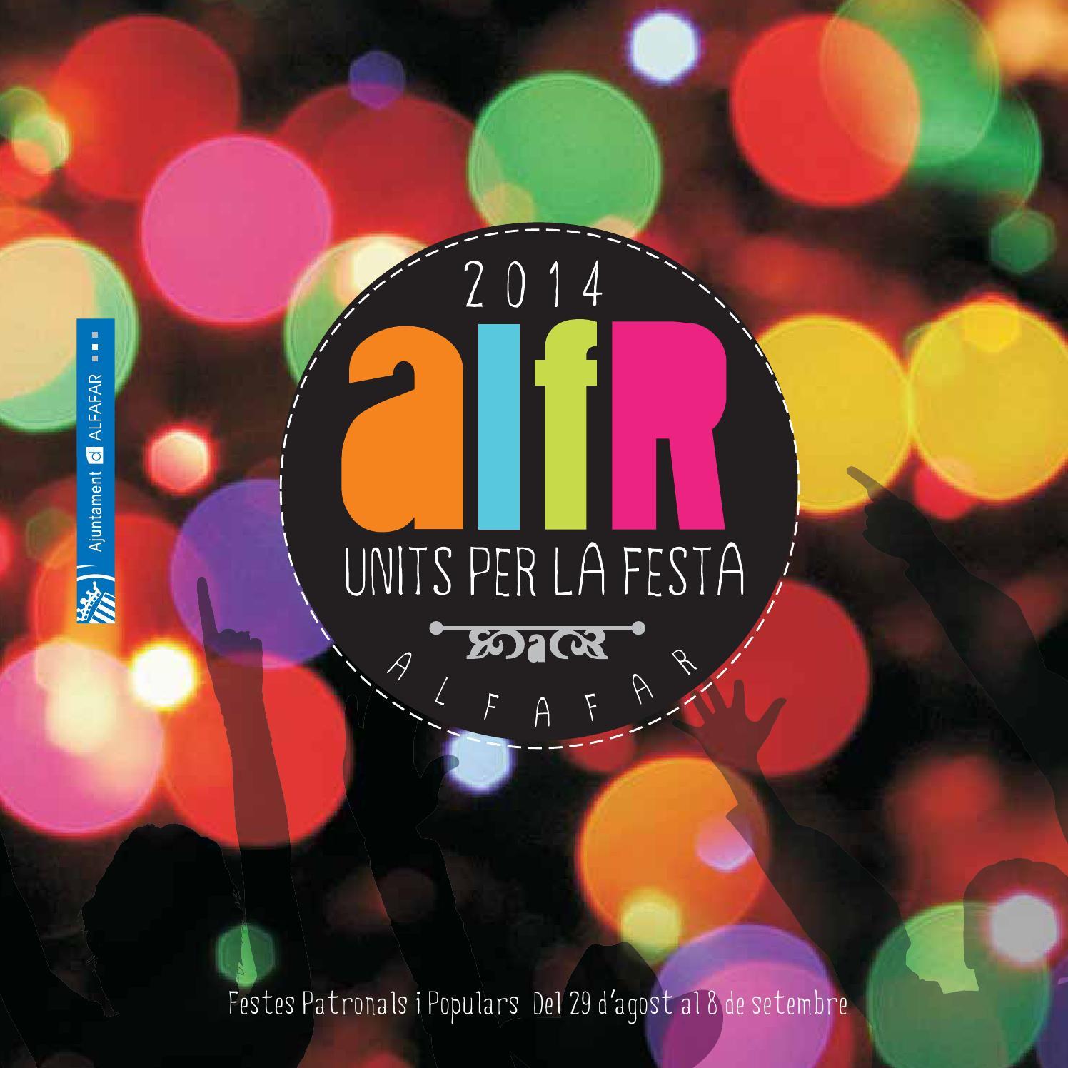 Fiestas Patronales Y Populares Alfafar 2014 By Ajuntament Alfafar  # Muebles Fomento Sedavi