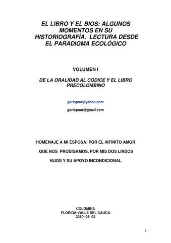El libro y el Bios: Algunos momentos en su historiografía. Lectura ...