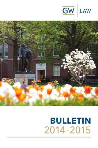 2014–2015 Law School Bulletin by The George Washington