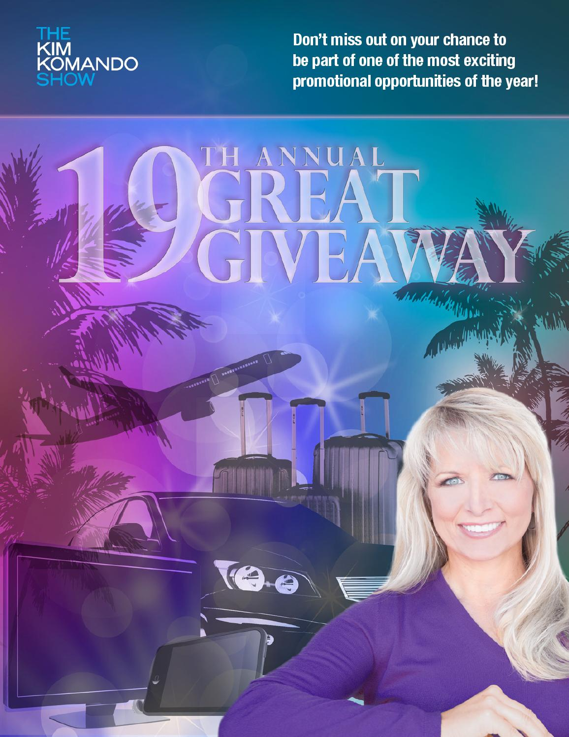 kim komando giveaway kim komando s 19th annual great giveaway by weststar 2879