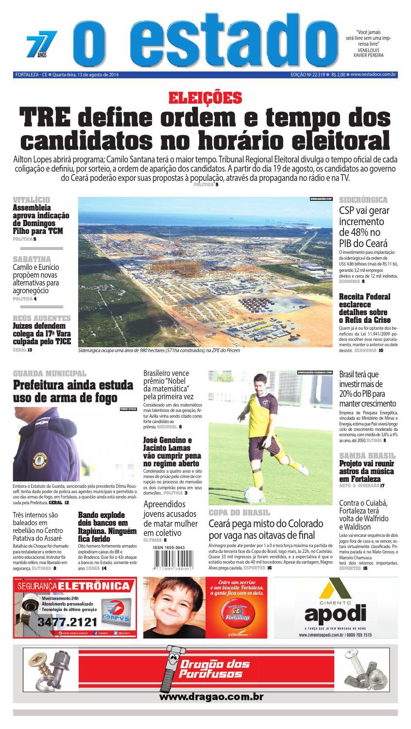 Edição 22319 - 13 de agosto de 2014 by Jornal O Estado (Ceará) - issuu 75f5838fe2
