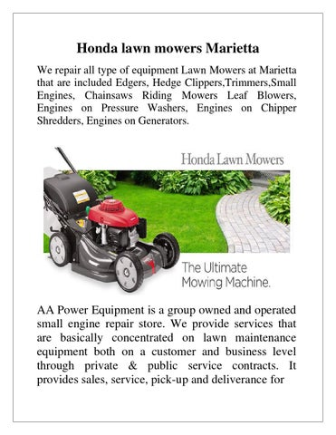 Superior Honda Lawn Mowers Marietta We Repair All Type Of Equipment Lawn Mowers At  Marietta That Are Included Edgers, Hedge Clippers,Trimmers,Small Engines,  ...
