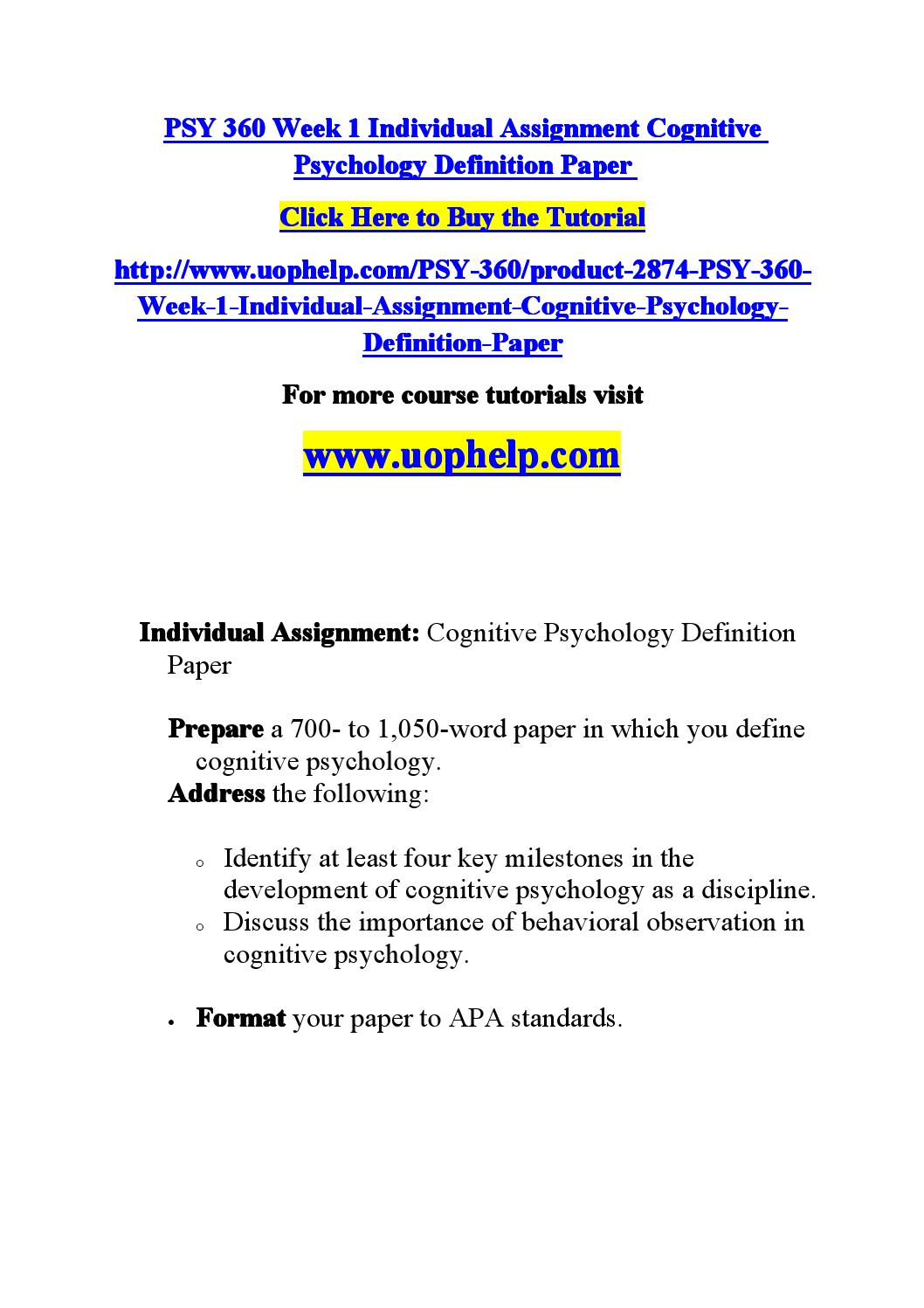 milestones in cognitive psychology