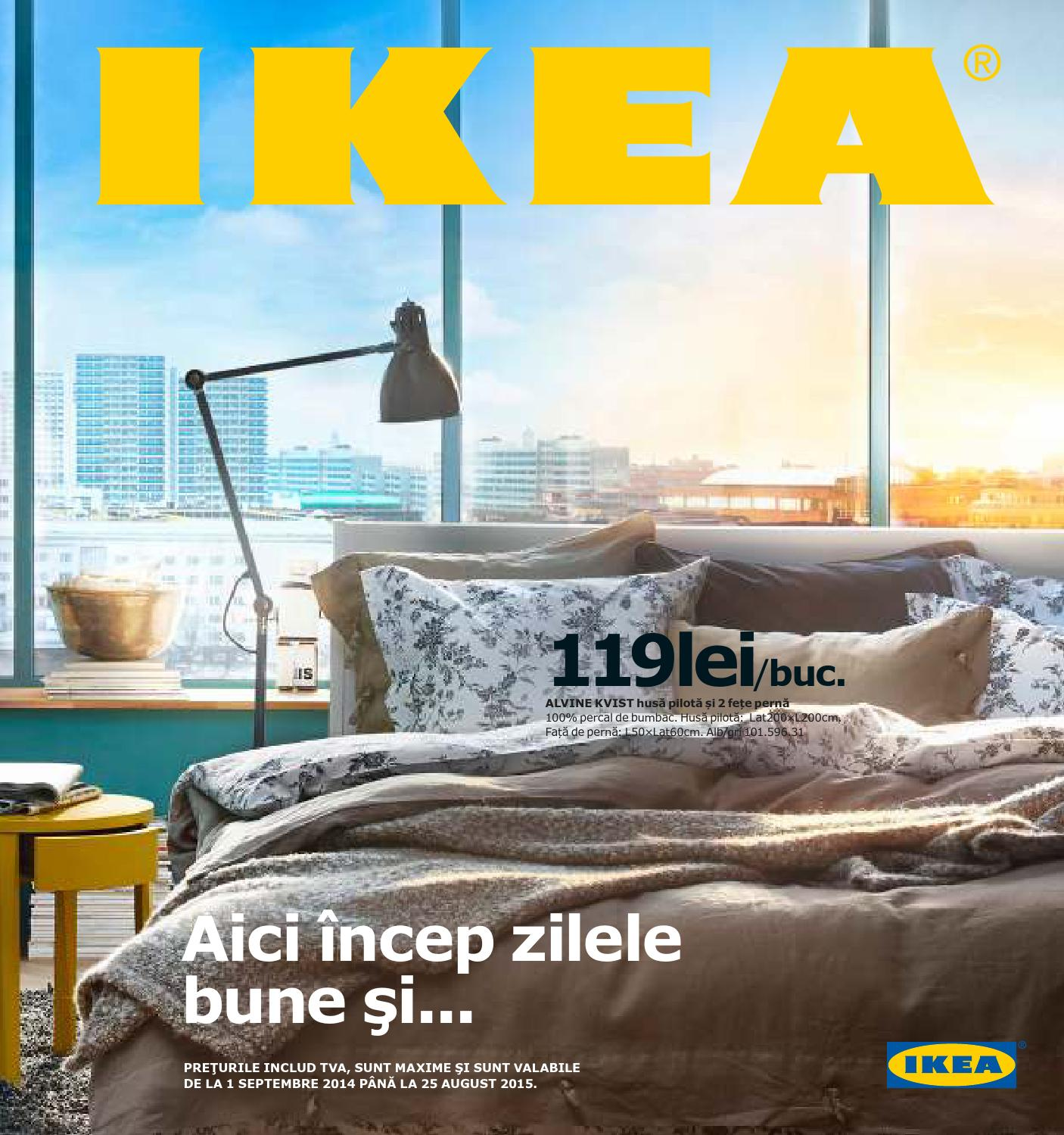 catalog ikea 2015 catalog principal 01 septembrie 2014 25 august 2015 by. Black Bedroom Furniture Sets. Home Design Ideas