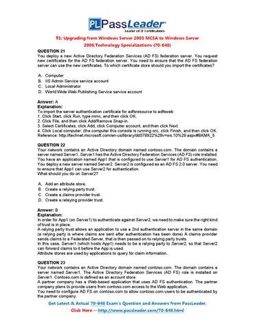 Free Download 100 Percent Real 70-648 Exam Questions (21-40
