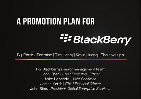 BlackBerry Promotion Plan by Chau Nguyen - issuu