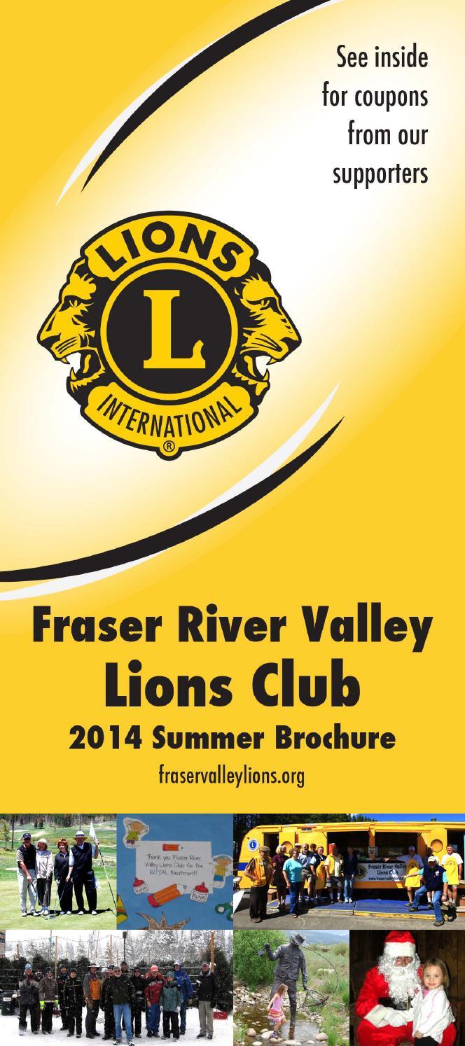 Lions club brochure 2014 by FRVLC - Issuu
