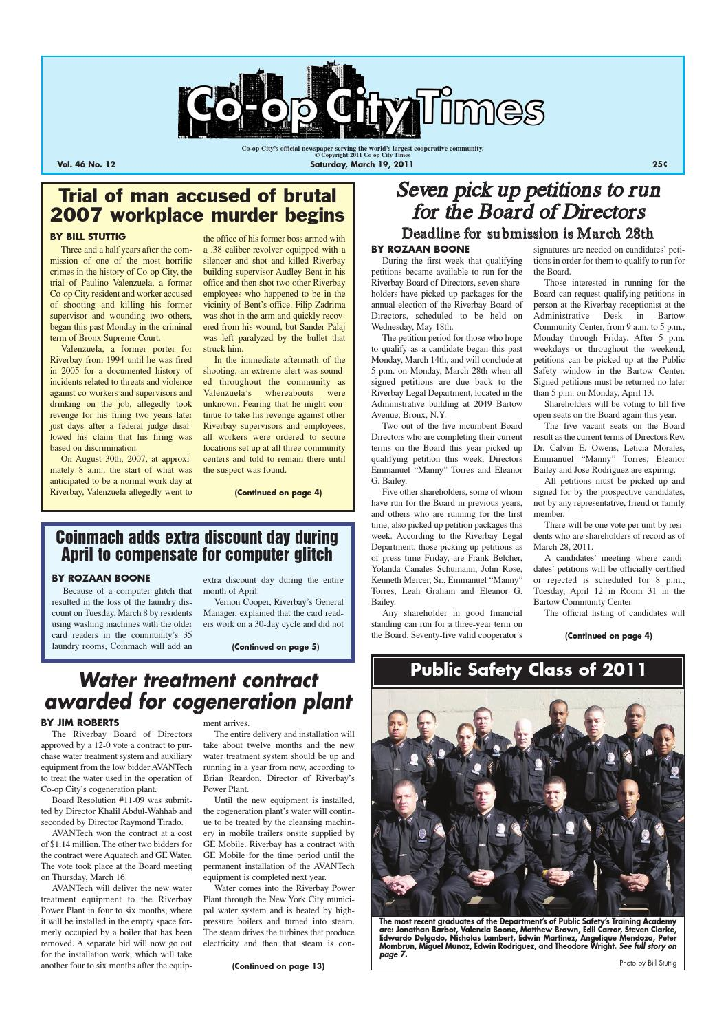 99ef337b1951 Co-op City Times 03 19 11 by Co-op City Times - issuu