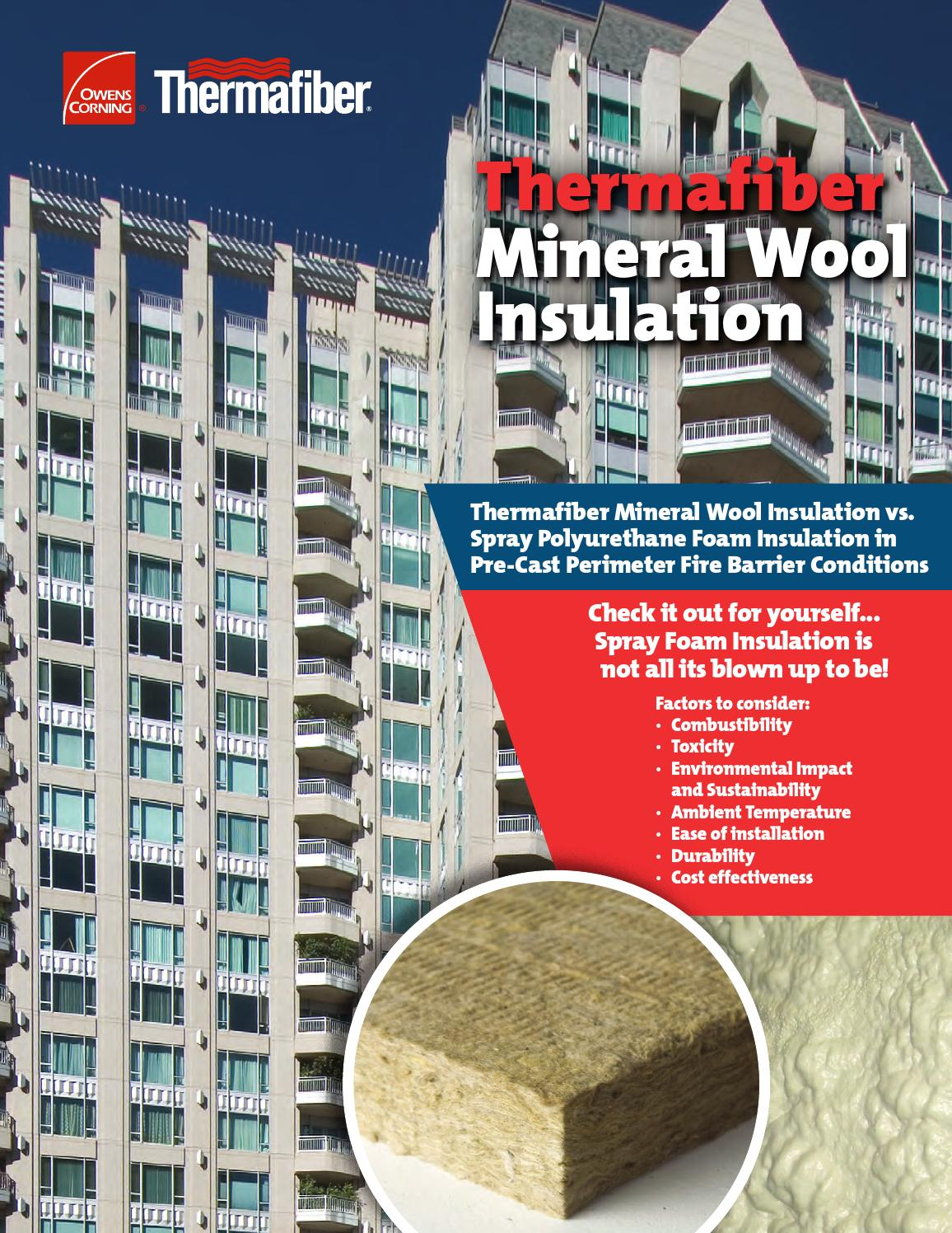 mineral wool vs spray foam brochure by thermafiber issuu