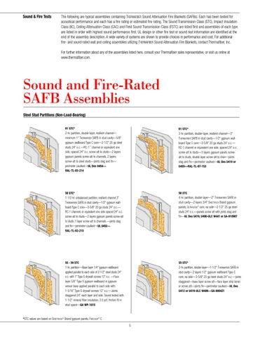 Sound fire systems catalog by thermafiber issuu for Thermafiber insulation prices