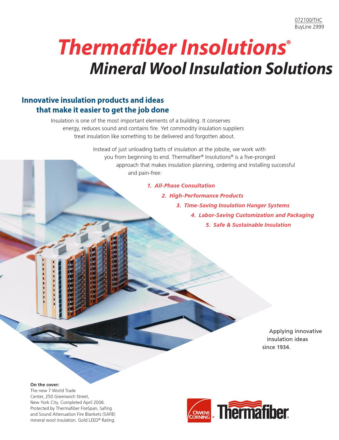 Tf700 Commercial Product Overview By Thermafiber Issuu