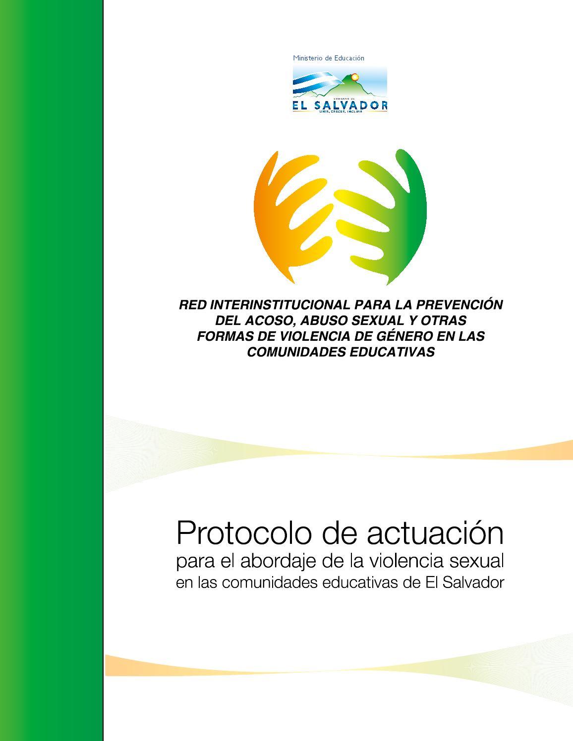 Protocolo de actuación by UNICEFSV - issuu