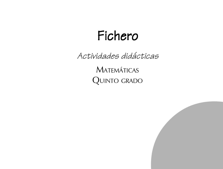 Fichero actividades didacticas matematicas 5c2ba by Miguel Ángel ...